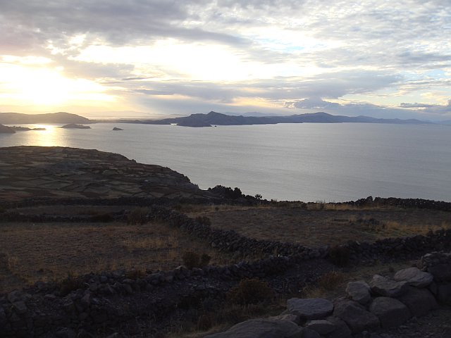 Sunset from Pachamama, Amantani Island, Lake Titicaca, Peru