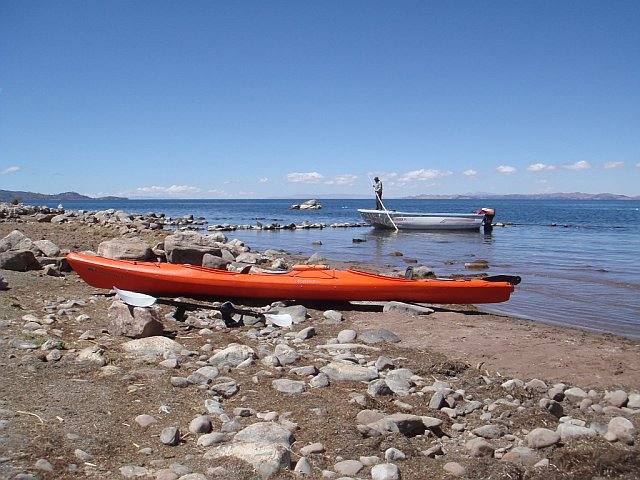 Kayaking on Lake Titicaca, Peru