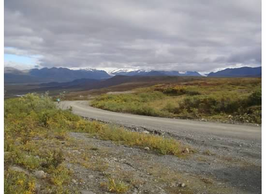 Common road in Alaska